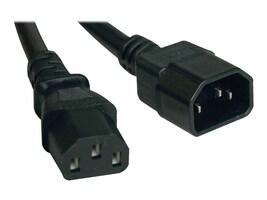 Tripp Lite AC Power Extender Cord IEC-320 C14 to IEC-320 C13 100-250V 10A 18AWG SJT Black 1ft, P004-001, 16275789, Power Cords