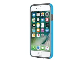 Incipio DualPro Dual Layer Case for iPhone 7, Cyan Charcoal, IPH-1465-CYC, 33013668, Carrying Cases - Phones/PDAs