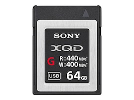 Sony 64GB XQD G Series Flash Memory Card, QDG64E/J, 33578773, Memory - Flash