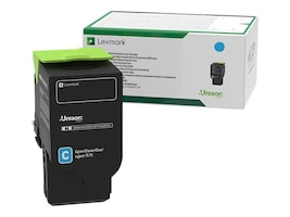 Lexmark Cyan 701XC Extra High Yield Return Program Toner Cartridge, 70C1XC0, 14909291, Toner and Imaging Components - OEM