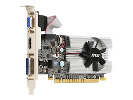 Microstar NVIDIA GeForce 210 PCIe 2.0 x16 Graphics Card, 1GB DDR3, N210-MD1G/D3, 33644881, Graphics/Video Accelerators