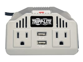 Tripp Lite PowerVerter 400W Ultra-Compact Inverter w  AC Outlet, 12VDC Vehicle Outlet, (2) USB Charging Ports, PV400USB, 26274982, Power Converters