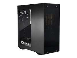 eVGA Chassis, DG-73 Matte Black Mid-Tower, Acrylic Window, Gaming Case, 130-P0-0020-KR, 34890591, Cases - Systems/Servers