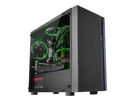 Thermaltake Chassis, Versa H18 TG, CA-1J4-00S1WN-01, 35145269, Cases - Systems/Servers