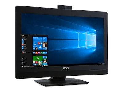 Acer Veriton Z4820G AIO Core i5-7400 3.0GHz 8GB 1TB HD630 DVD-RW ac BT WC 23.8 FHD W10P64, DQ.VPJAA.003, 34363803, Desktops - All-in-One
