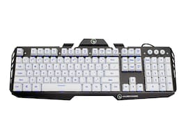 IOGEAR Aluminum Gaming Keyboard, White, GKB704L-WT, 31842366, Computer Gaming Accessories