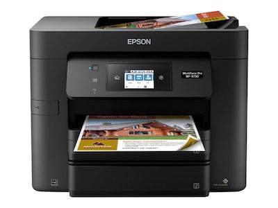 Epson WorkForce Pro WF-4730 Wireless All-In-One Printer, C11CG01201, 33600926, MultiFunction - Ink-Jet