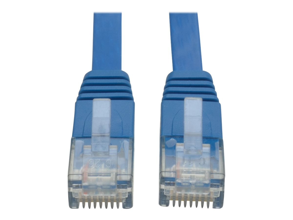 Buy Cheap Tripp Lite 25ft Flat Cat6 Gigabit Snag Less Blue Patch Cord Cable N201-025-bl-fl A Complete Range Of Specifications Ethernet Cables (rj-45/8p8c)