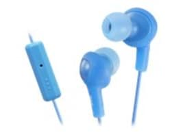 JVC Gummy Plus Inner Ear with Mic Remote, Blue, HAFR6A, 14891203, Headsets (w/ microphone)