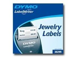 DYMO White Jewelry Labels, 30299, 4813439, Paper, Labels & Other Print Media