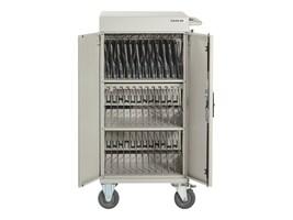Black Box 30-Unit Standard Cart - Basic Distribution Charging, Hinged Door, Keylock, LCC30H-A-R2, 34153161, Computer Carts
