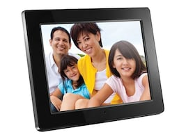 Aluratek ADMPF512F Digital Picture Frame, 512MB, 12in, Black, ADMPF512F, 13020781, Digital Picture Frames