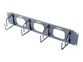 APC Horizontal Cable Organizer with Pass Through, 2U Black (AR8428), AR8428, 462517, Premise Wiring Equipment