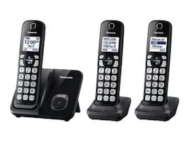 Panasonic Expandable Cordless Phones w  Call Block (3 Handsets), KX-TGD513B, 34757651, Telephones - Consumer