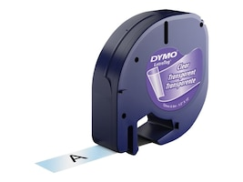 DYMO DYMO Clear Tape For Letra Tag, 16952, 4764892, Paper, Labels & Other Print Media