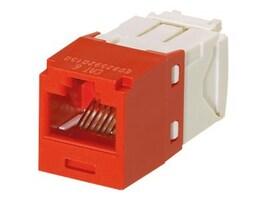Panduit Mini-Com Cat6 Modular Jack, 8-Position, 8-Wire, Red, CJ688TGRD, 12198157, Premise Wiring Equipment