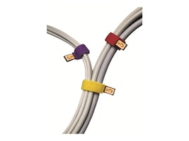 Case Logic 6.75 Cable Ties Assorted Colors, 6-pack, CT-6, 4901391, Cable Accessories