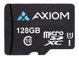 Axiom 128GB MicroSDXC UHS-I U1 Flash Memory Card, Class 10, MSDXC10U1128-AX, 35723751, Memory - Flash
