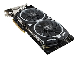 Microstar GeForce GTX1080 Armor Overclocked Graphics Card, 8GB GDDR5X, GTX 1080 ARMOR 8G OC, 32198470, Graphics/Video Accelerators