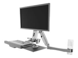Atdec Sit-to-Stand Wall-Mounted Workstation Mount with Antimicrobial Finish, A-STSWW-A, 37326901, Furniture - Miscellaneous