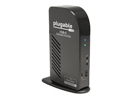 Plugable USB-C Triple Display Docking Station with DisplayLink USB Graphics, UD-ULTCDL, 32158451, Docking Stations & Port Replicators