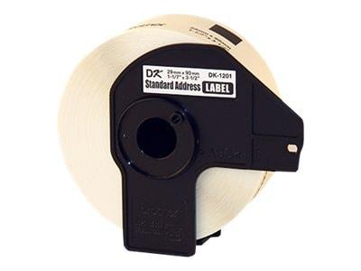 Brother 1-1 7 x 3-1 2 Standard Address Paper Labels for Brother QL Series Label Printers (400 Labels), DK1201, 5217559, Paper, Labels & Other Print Media