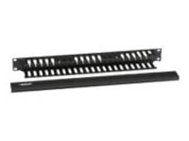 Black Box Rackmount Cable Raceway, Horizontal, Single Sided with cover, 1U, RMT100A-R3, 10353521, Rack Cable Management