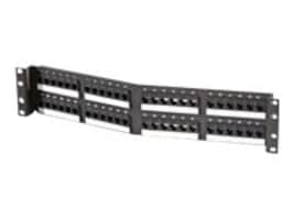 Ortronics 48-Port Cat5e Angled Patch Panel, SPA5EU48, 33744364, Patch Panels