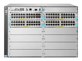 HPE 5412R 92xGT 7U RM Managed Switch P2020 1.2GHz 4GB RAM 1GB Flash 92xGbE PoE+ 4x1-10GbE, JL001A, 20020367, Network Switches