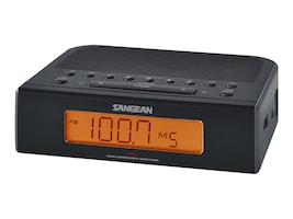 Sangean AM FM Digital Tuning Clock Radio, RCR-5BK, 16881682, Clock Radios