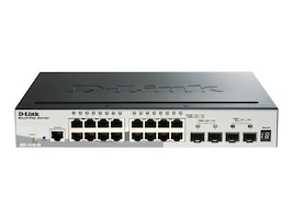 D-Link SmartPro 16-Port Gigabit Switch w 2 SFP And 2 10GBE SFP+, DGS-1510-20, 16933817, Network Switches