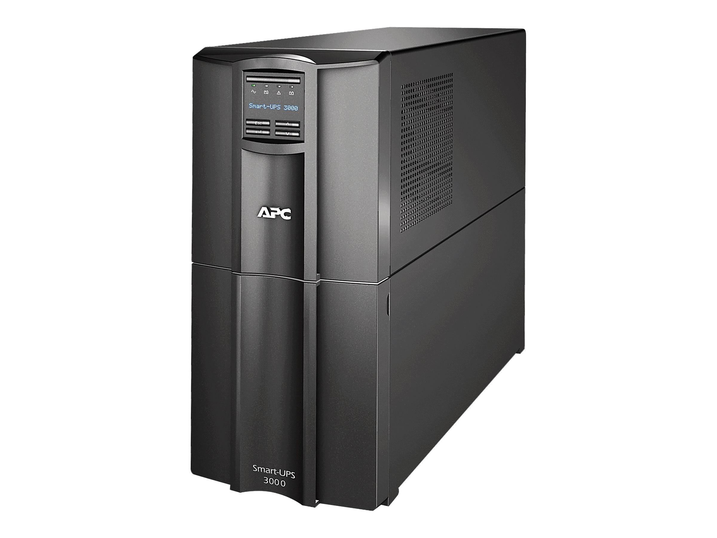 APC Smart-UPS 3000VA 2700W LCD UPS, Serial USB, SMT3000, 10335349, Battery Backup/UPS