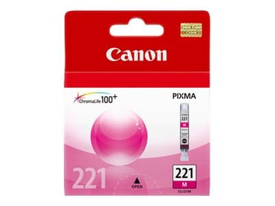 Canon Magenta CLI-221 Ink Tank, 2948B001, 8976243, Ink Cartridges & Ink Refill Kits - OEM