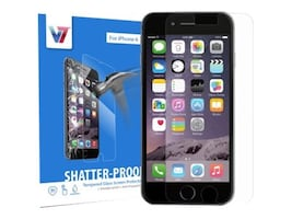 V7 Shatter-Proof Tempered Glass for iPhone 6, PS500-IPHN6TPG-3N, 33015508, Protective & Dust Covers