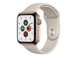 Apple Watch Series 5 GPS+Cellular, 44mm Gold Stainless Steel Case with Stone Sport Band - S M & M L, MWW52LL/A, 37523729, Wearable Technology - Apple Watch Series 4-5