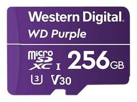 WD 256GB Purple Surveillance microSDXC Card, Class 10, WDD256G1P0A, 36761549, Memory - Flash