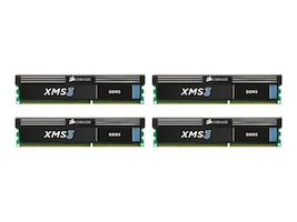 Corsair 16GB PC3-12800 240-pin DDR3 SDRAM DIMM Kit, CMX16GX3M4A1600C9, 13109953, Memory