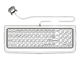LXE 60-Key Rugged Keyboard QWERTY w  VX8 Adapter Cable, VX89152KEYBRD, 15999208, Keyboards & Keypads
