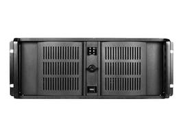 iStarUSA Chassis, D-400 4U RM 3x3.5 Bays (2xInternal) 4x5.25 Bays 1x500W PSU, Black, D-400-50R8PD8, 33604492, Cases - Systems/Servers