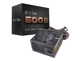 eVGA 600W 600B Power Supply Bronze 49A, 100-B1-0600-KR, 16183948, Power Supply Units (internal)