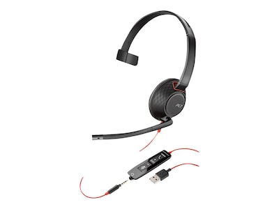 Plantronics BlackWire 5210 USB-A Monaural Headset, 207577-01, 34757271, Headsets (w/ microphone)