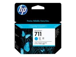 HP 711 (CZ134A) 29-ml Cyan Original Ink Cartridges (3-pack), CZ134A, 14736502, Ink Cartridges & Ink Refill Kits - OEM