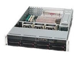 Supermicro Chassis, 8x3.5 HS SAS SATA Bays, 720W RPSU, CSE-825TQ-R720LPB, 10239162, Cases - Systems/Servers