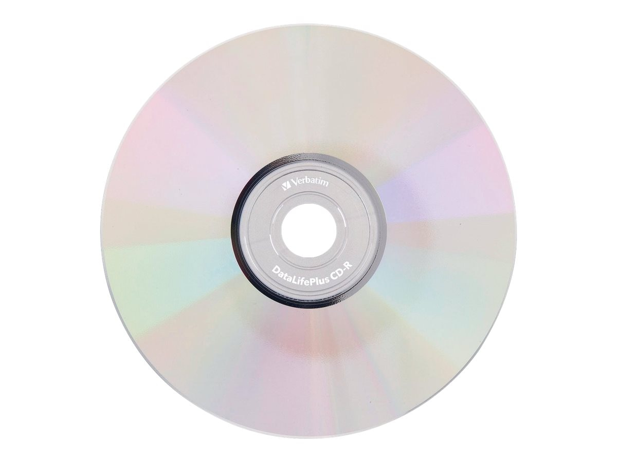 graphic relating to Printable Cd R identified as Verbatim 52x 700MB 80min. Crystal Thermal Hub Printable CD-R Media (50-pack spindle)
