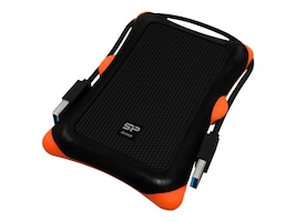 Silicon Power 1TB Rugged Armor A30 Shockproof USB 3.0 2.5 Portable Hard Drive - Black, SP010TBPHDA30S3K, 16425572, Hard Drives - External