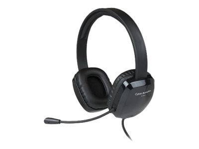 Cyber Acoustics AC-6012 USB Stereo Headset, AC-6012, 33117272, Headsets (w/ microphone)