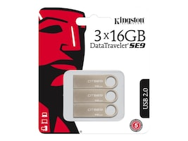 Kingston DTSE9H/16GB-3P Main Image from Front