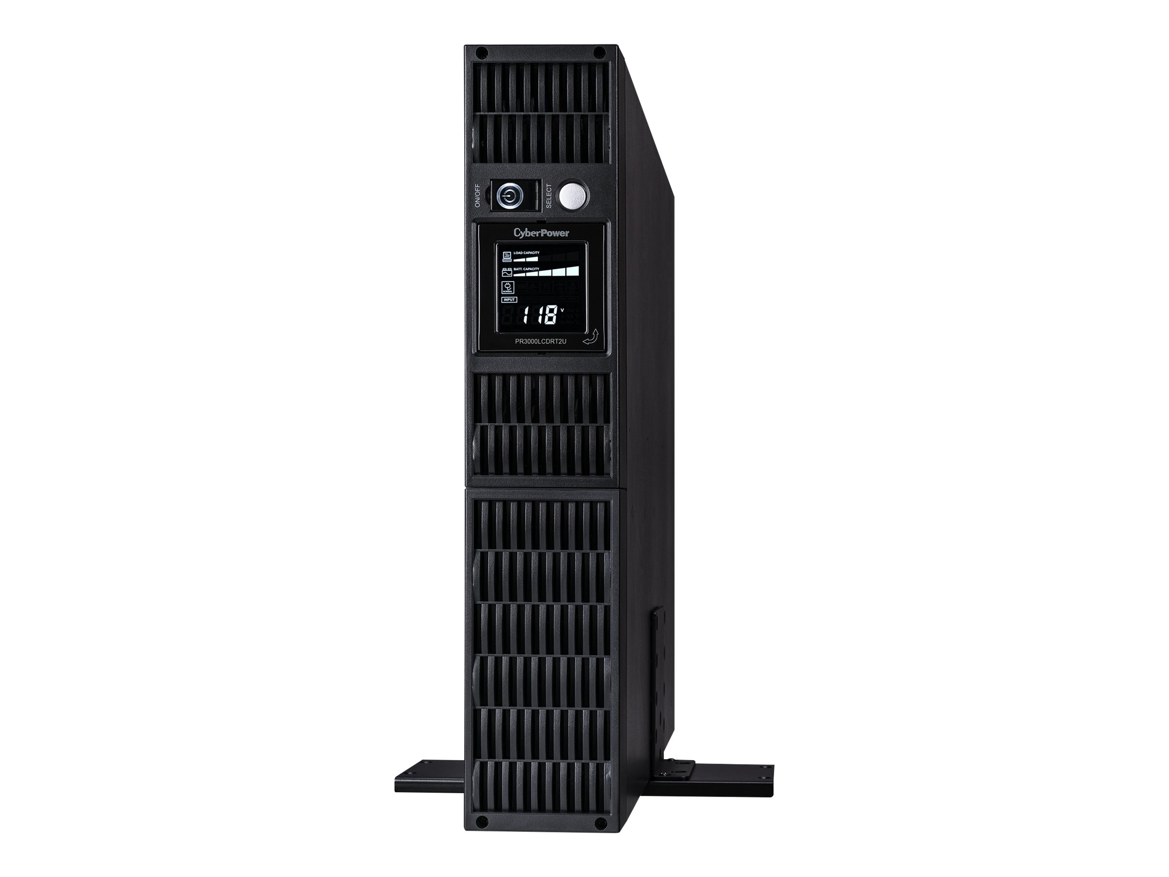 CyberPower 3000VA 2250W Smart App Sinewave LCD UPS 2U RM Tower AVR, 9 Outlets, PR3000LCDRT2U, 9414509, Battery Backup/UPS