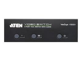 Aten 2 Port VGA Audio Switch, VS0201, 15222079, Switch Boxes - AV