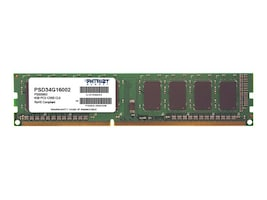 Patriot Memory 4GB PC3-12800 240-pin DDR3 SDRAM DIMM, PSD34G16002, 16775556, Memory